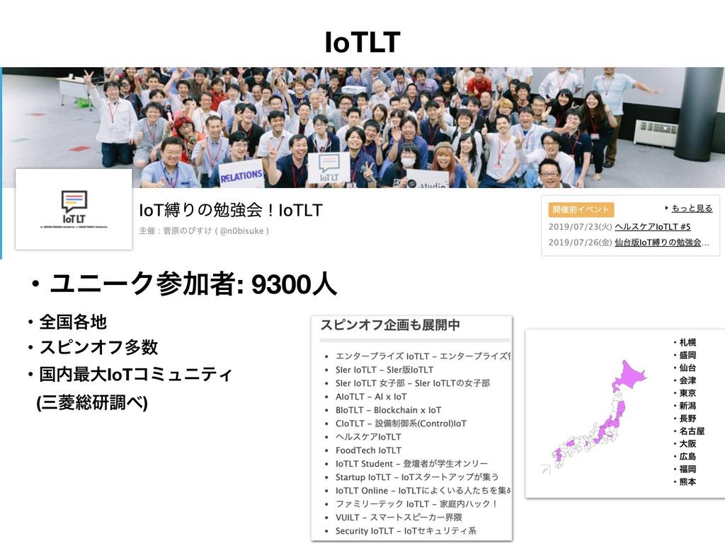 IoTLT ɾϢχʔΫՃऀ: 9300ਓ ɾશࠃ֤ ɾεϐϯΦϑଟ ɾࠃ࠷େIoTίϛ...
