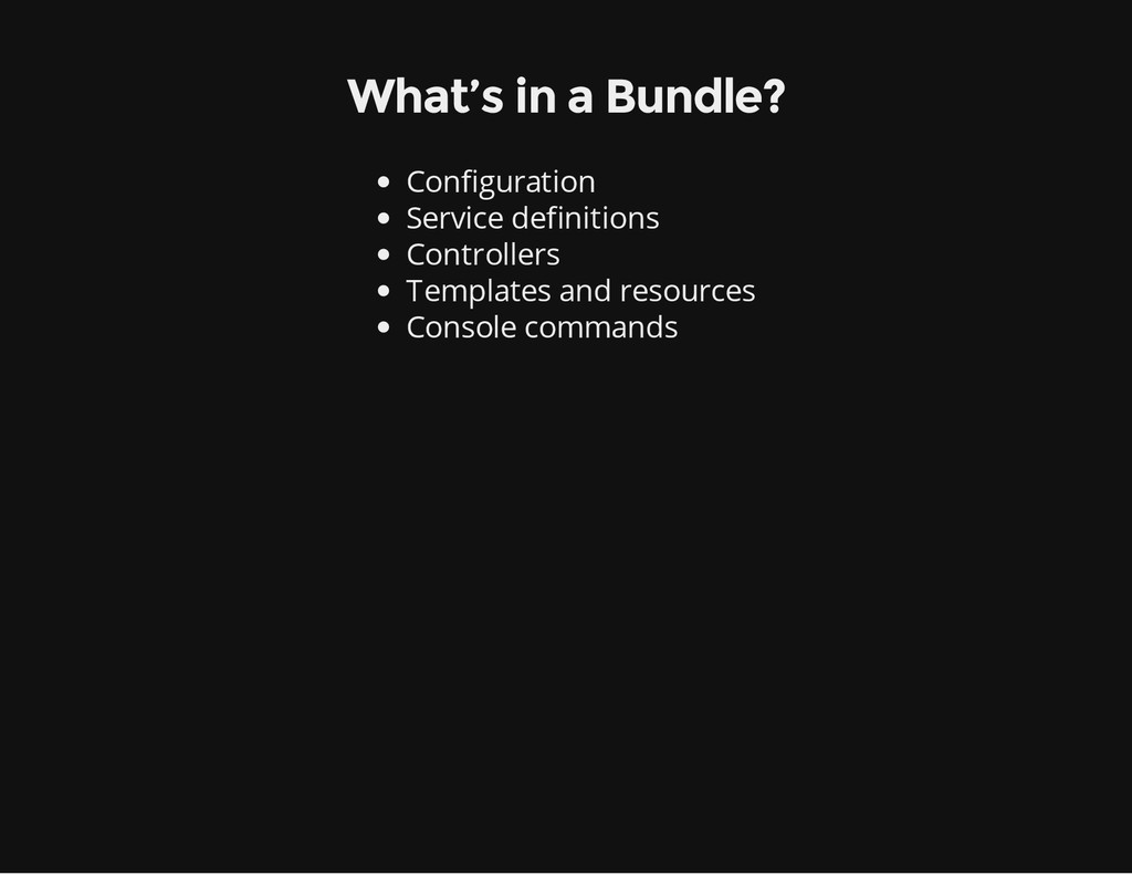 What's in a Bundle? Configuration Service defin...