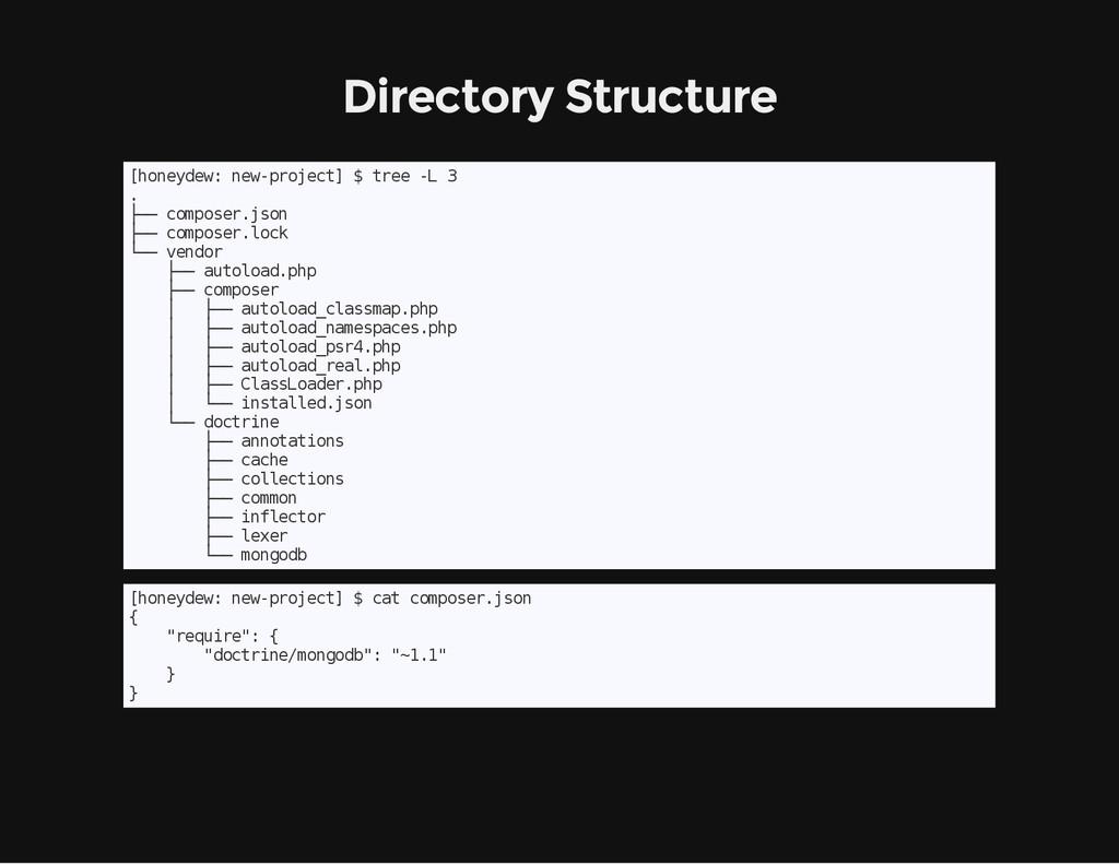 Directory Structure [ h o n e y d e w : n e w -...