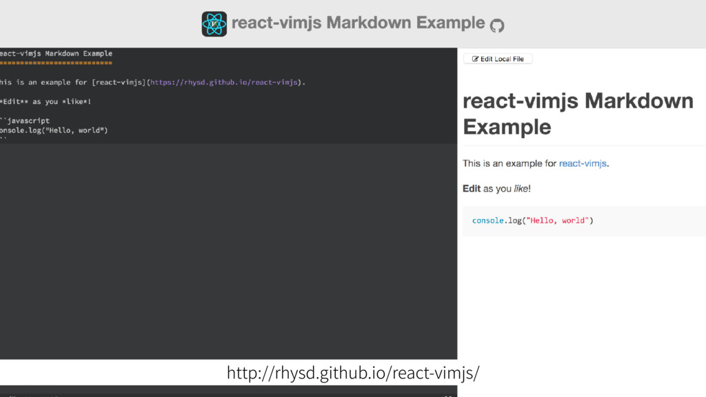 http://rhysd.github.io/react-vimjs/