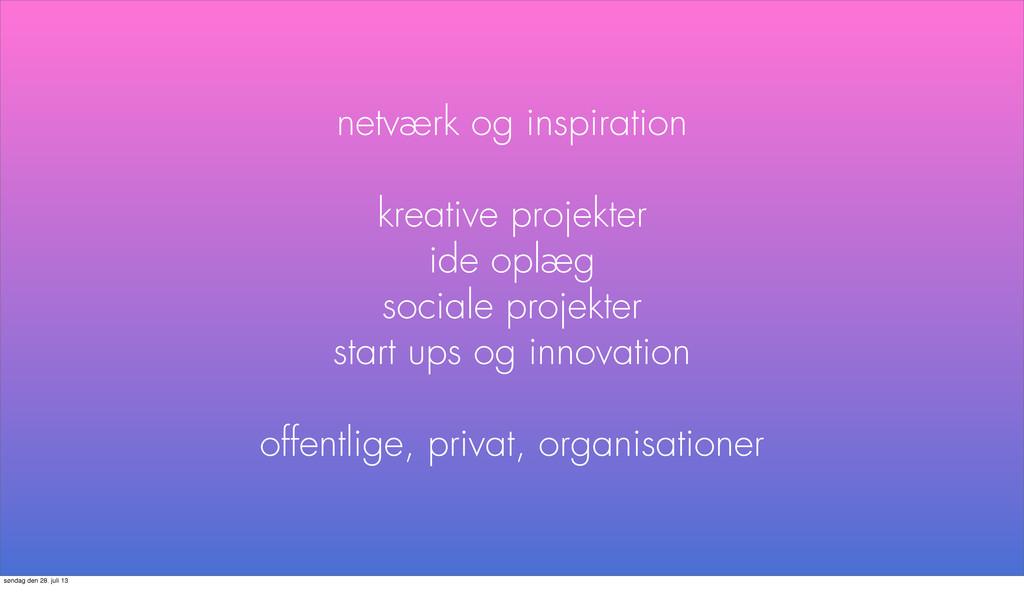 netværk og inspiration kreative projekter ide o...
