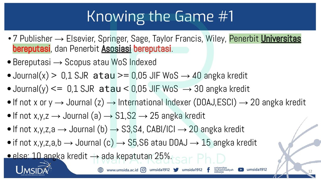 12 Knowing the Game #1 •7 Publisher → Elsevier,...