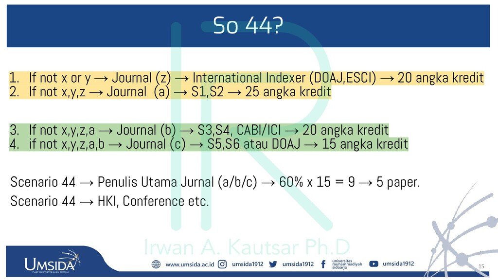 15 So 44? 1. If not x or y → Journal (z) → Inte...