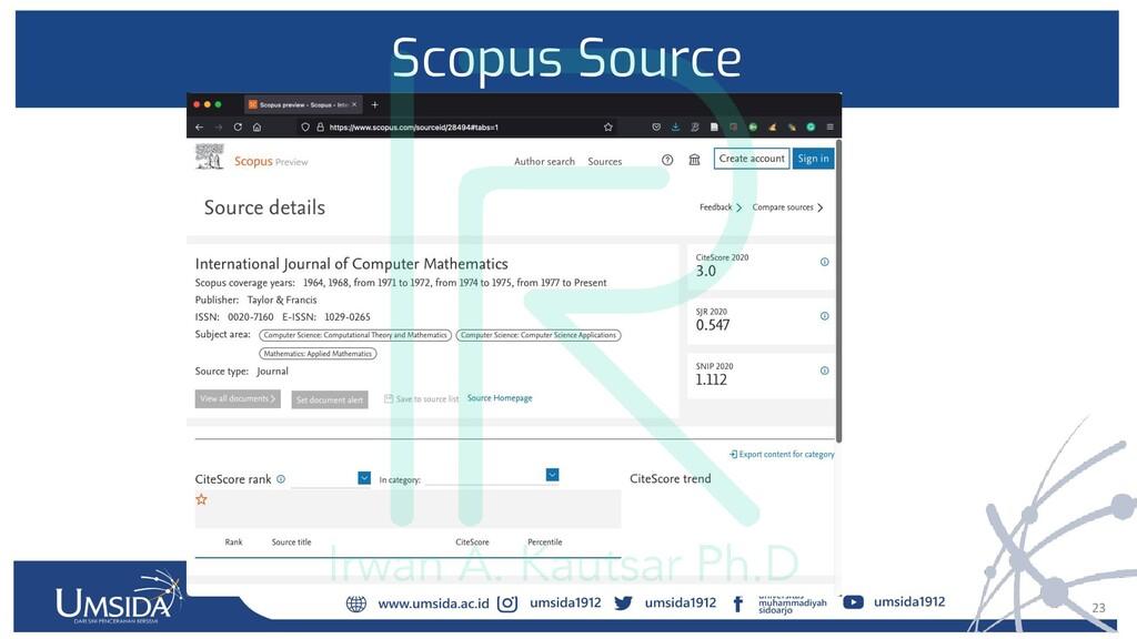 23 Scopus Source