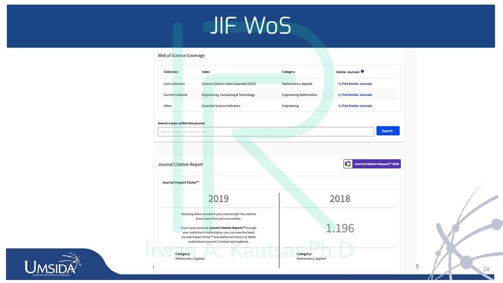 24 JIF WoS