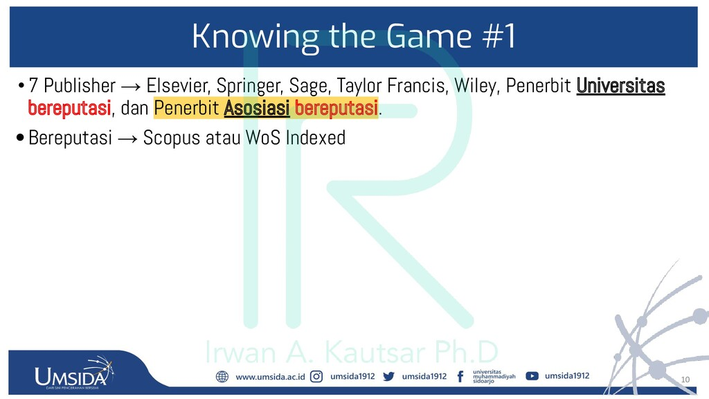 10 Knowing the Game #1 •7 Publisher → Elsevier,...