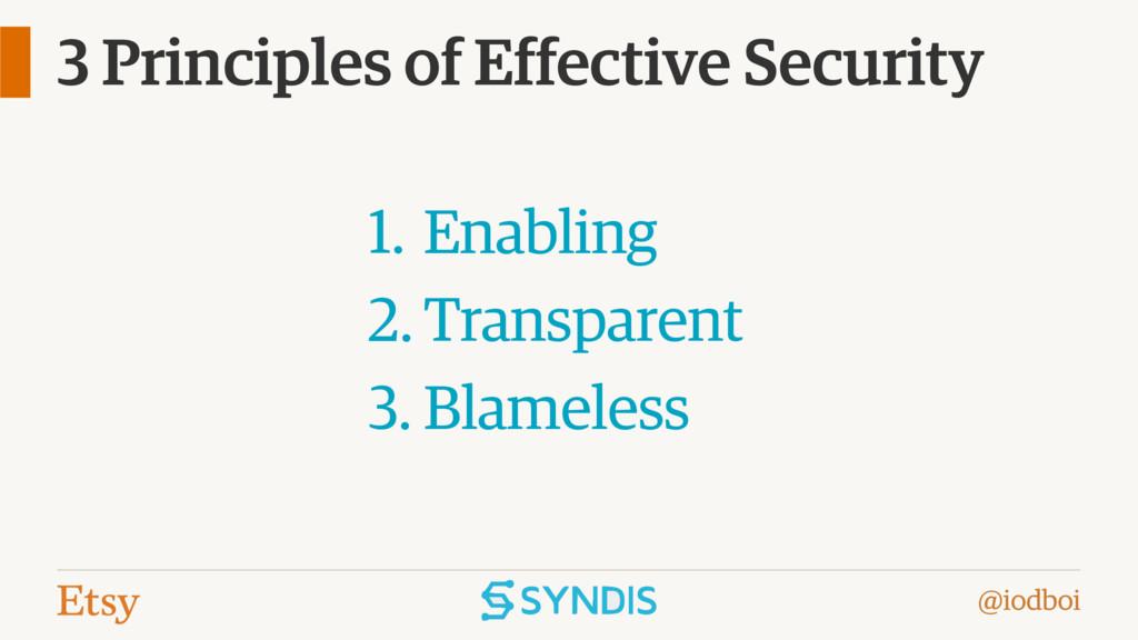 @iodboi 3 Principles of Effective Security 1. E...