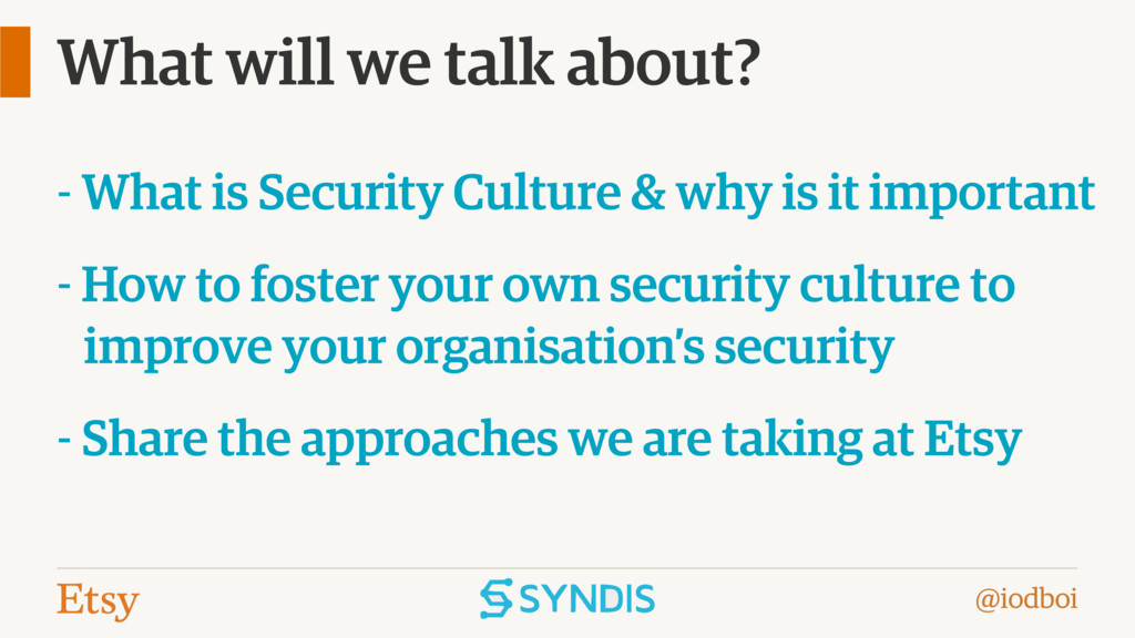 @iodboi What will we talk about? - What is Secu...
