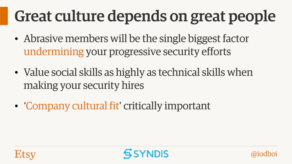 @iodboi Great culture depends on great people •...