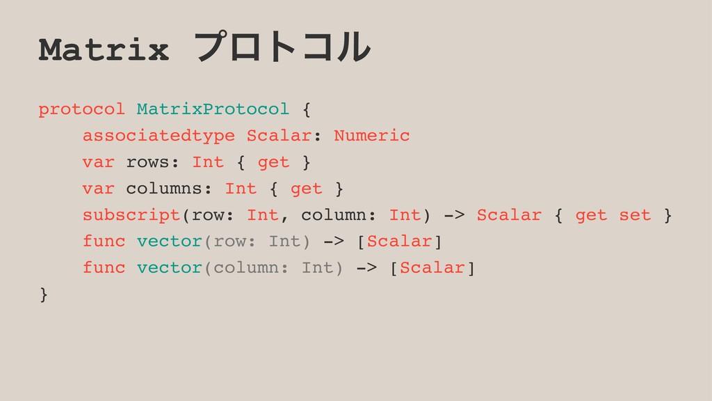 Matrix ϓϩτίϧ protocol MatrixProtocol { associat...