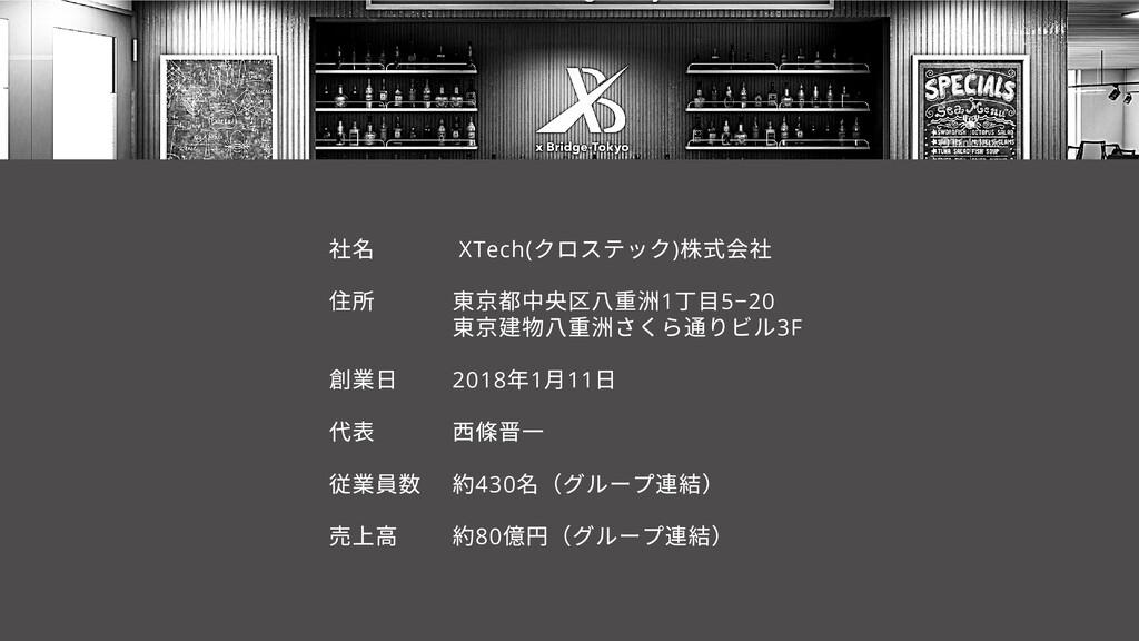業⽇ 代 従業員 売上 XTech( クロステック) 株式 東 都中央 重洲1 丁⽬5−20 ...