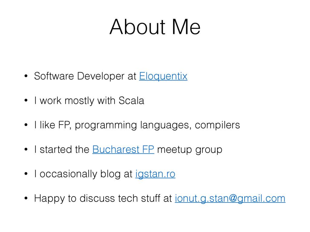 • Software Developer at Eloquentix • I work mos...