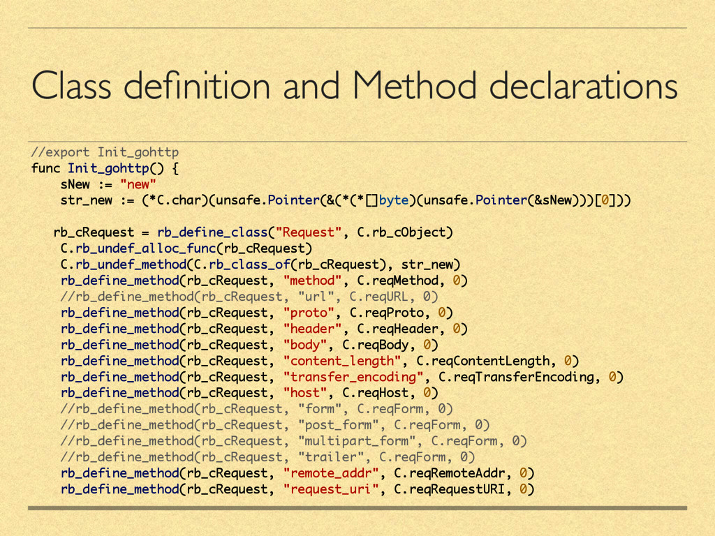 Class definition and Method declarations //expor...