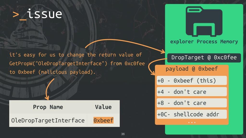 explorer Process Memory DropTarget @ 0xc0fee Pr...