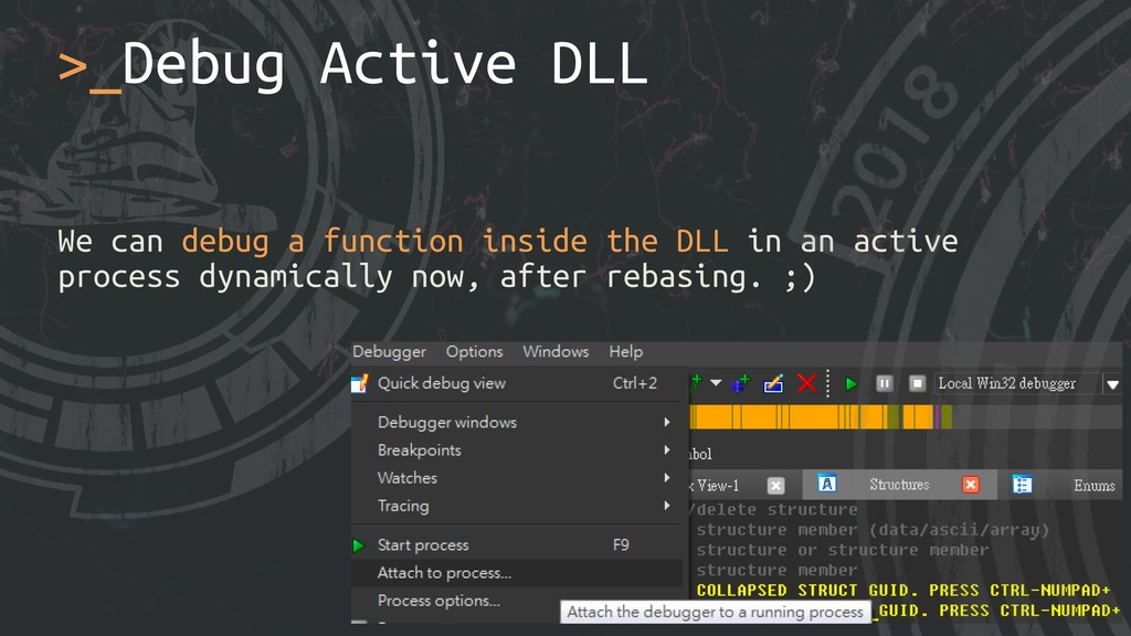 We can debug a function inside the DLL in an ac...