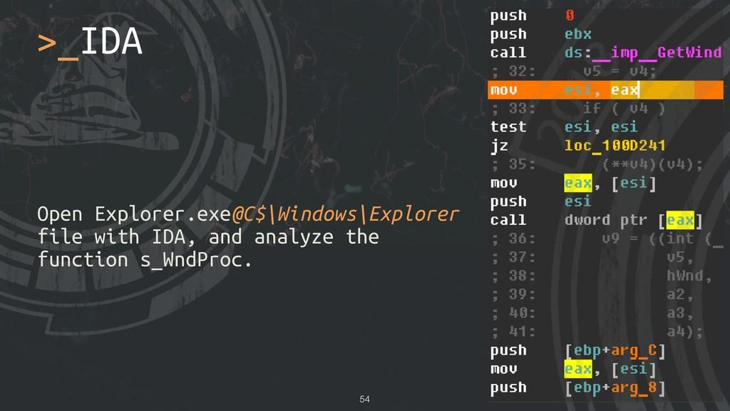 Open Explorer.exe@C$\Windows\Explorer file with...