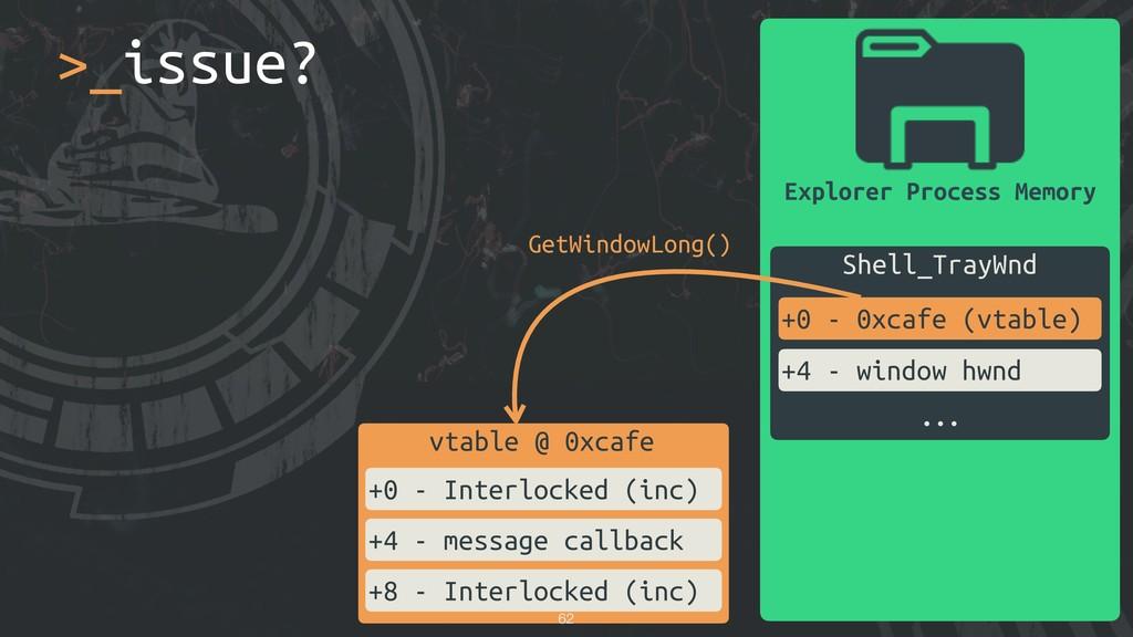 Explorer Process Memory Shell_TrayWnd +0 - 0xca...