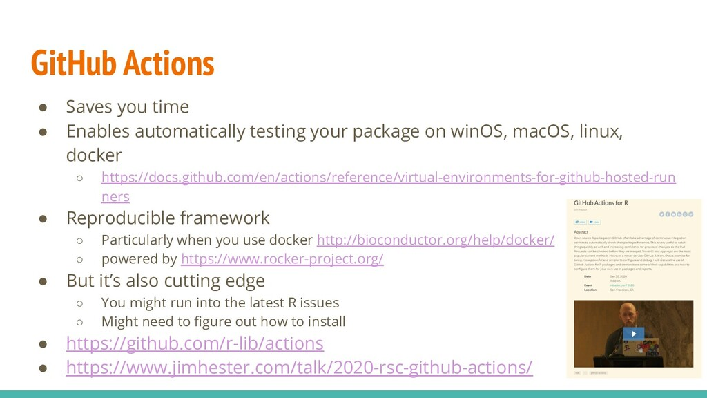 GitHub Actions ● Saves you time ● Enables autom...