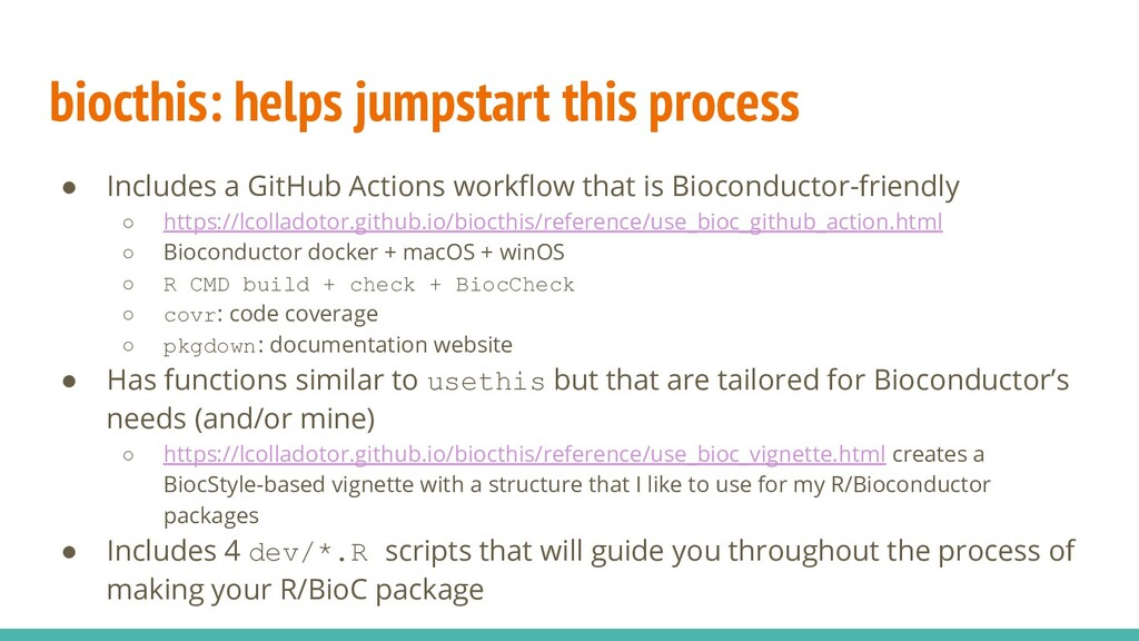 biocthis: helps jumpstart this process ● Includ...