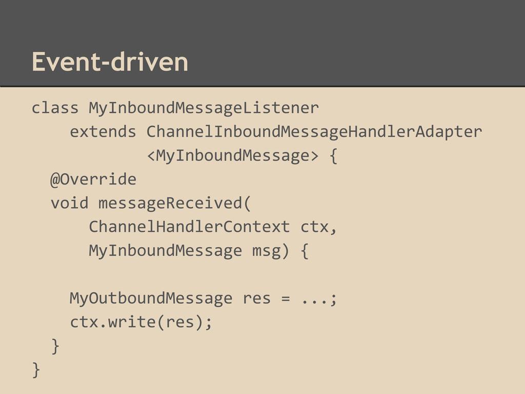 Event-driven class MyInboundMessageListener ext...