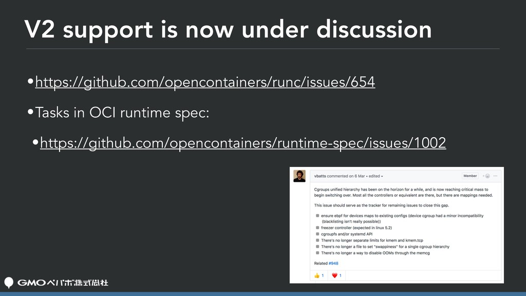 V2 support is now under discussion •https://git...