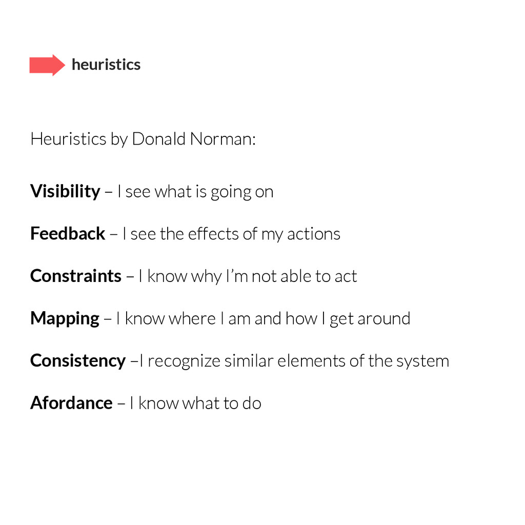 Heuristics by Donald Norman: Visibility – I see...
