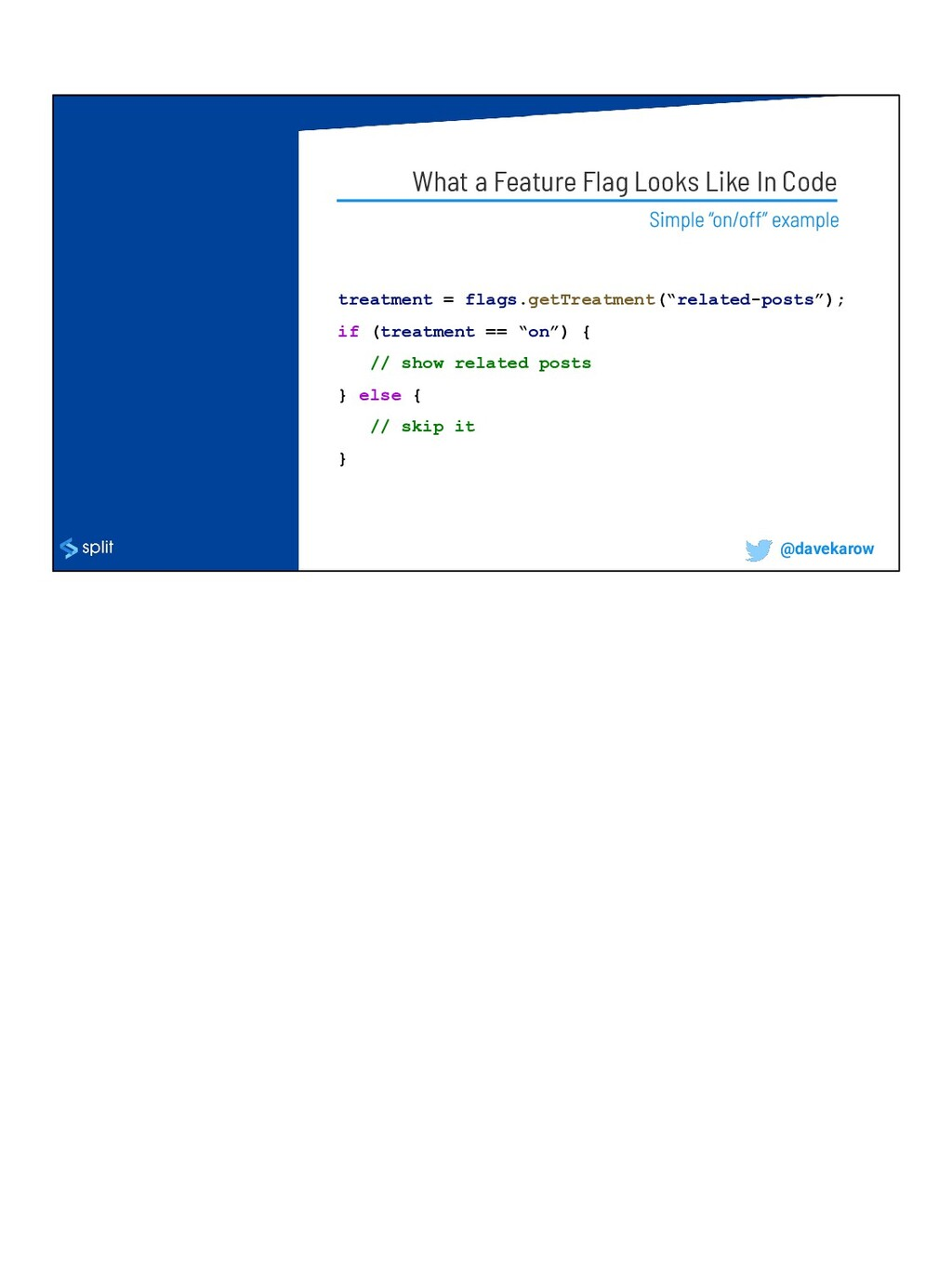 What a Feature Flag Looks Like In Code treatmen...