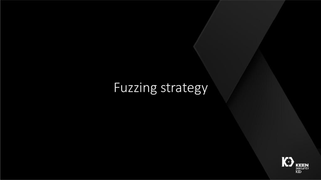 Fuzzing strategy