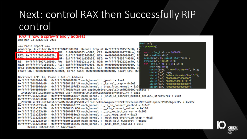 Next: control RAX then Successfully RIP control...