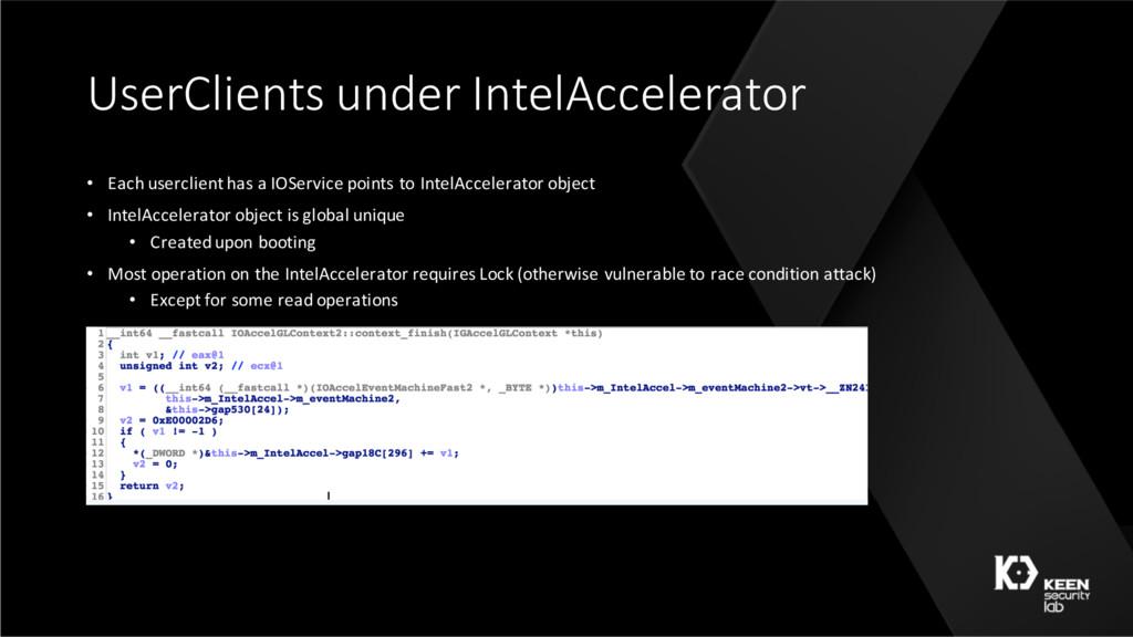 UserClients under IntelAccelerator • Each userc...