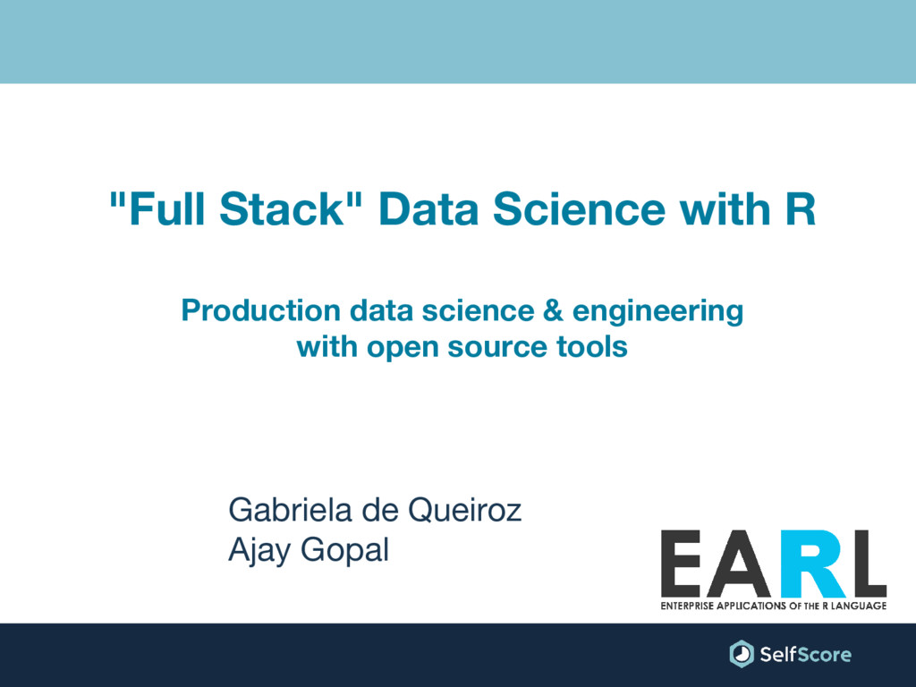 """Full Stack"" Data Science with R Production dat..."
