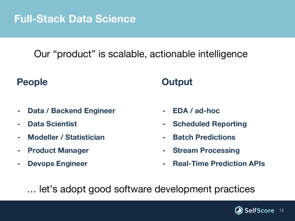 Full-Stack Data Science People - Data / Backend...