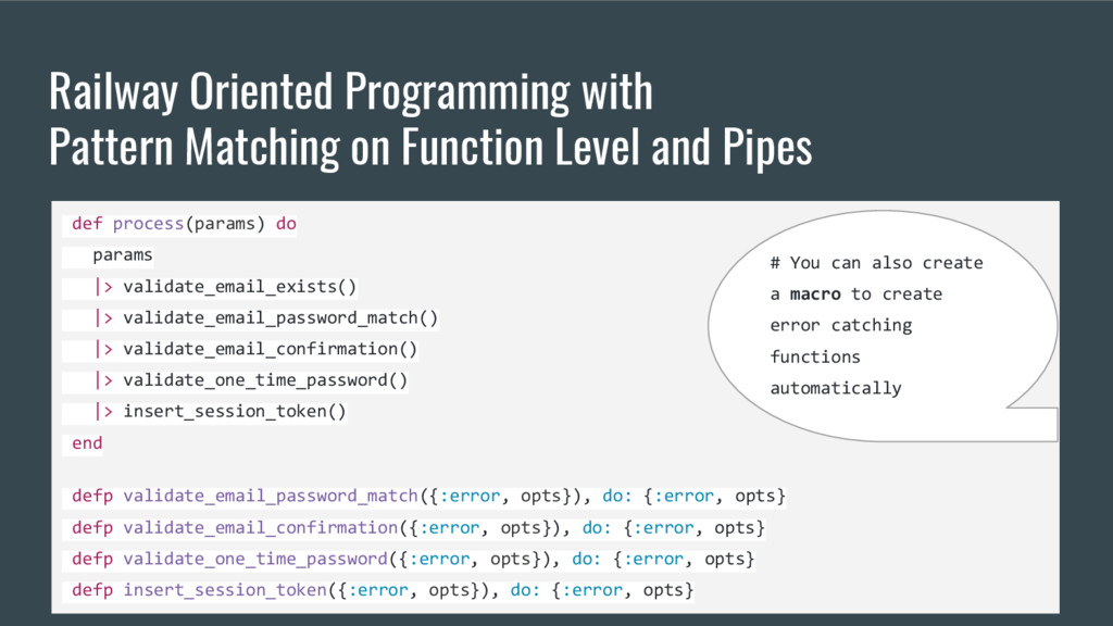 Railway Oriented Programming with Pattern Match...