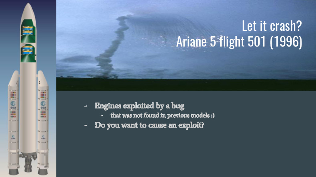 Let it crash? Ariane 5 flight 501 (1996) - Engi...