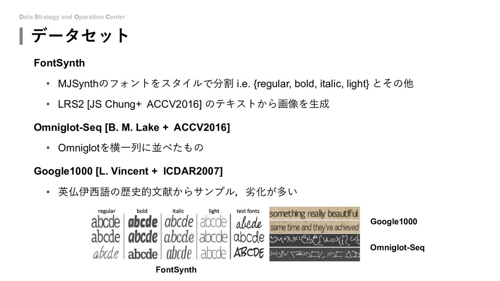 Data Strategy and Operation Center データセット FontS...