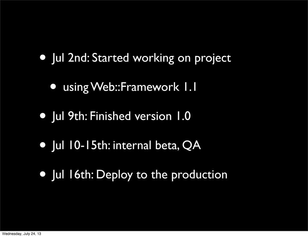 • Jul 2nd: Started working on project • using W...