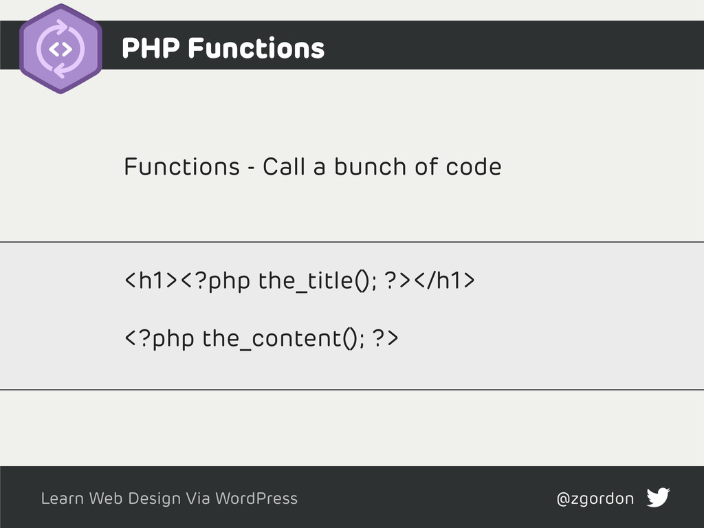 Learn Web Design Via WordPress @zgordon Functio...