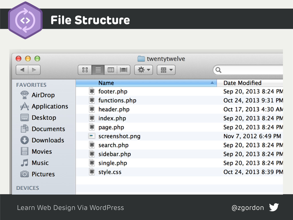 Learn Web Design Via WordPress @zgordon Test if...