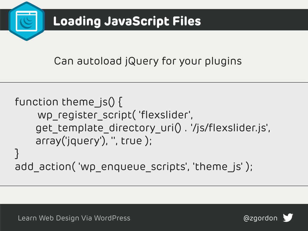 Learn Web Design Via WordPress @zgordon Can aut...