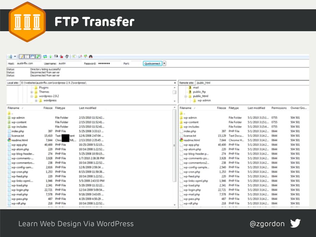 Learn Web Design Via WordPress @zgordon FTP Tra...