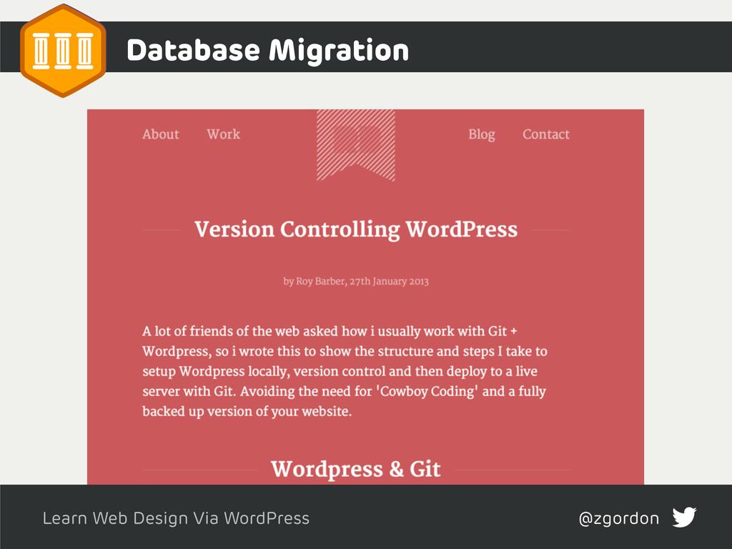 Learn Web Design Via WordPress @zgordon Databas...