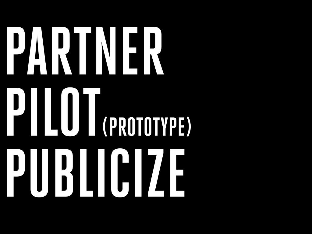 PARTNER PILOT(PROTOTYPE) PUBLICIZE