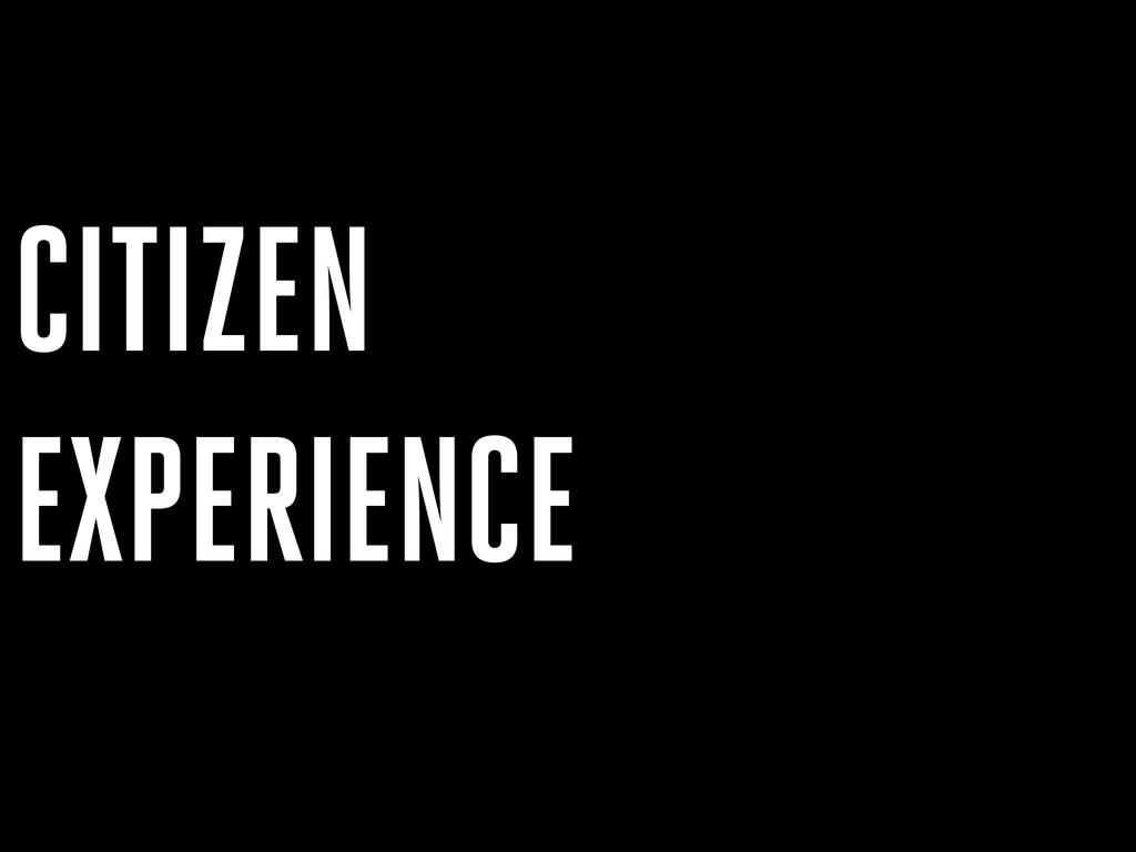 EXPERIENCE CITIZEN
