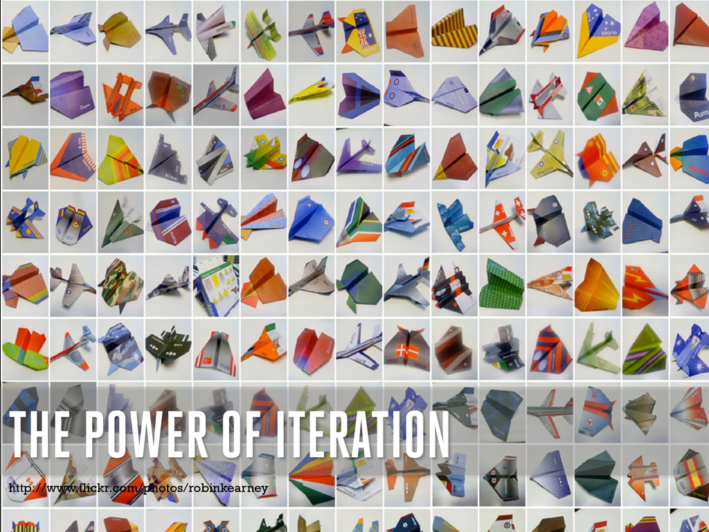 THE POWER OF ITERATION http://www.flickr.com/ph...
