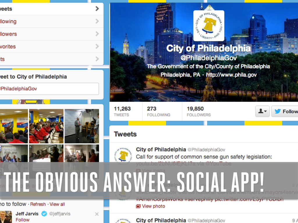 THE OBVIOUS ANSWER: SOCIAL APP!