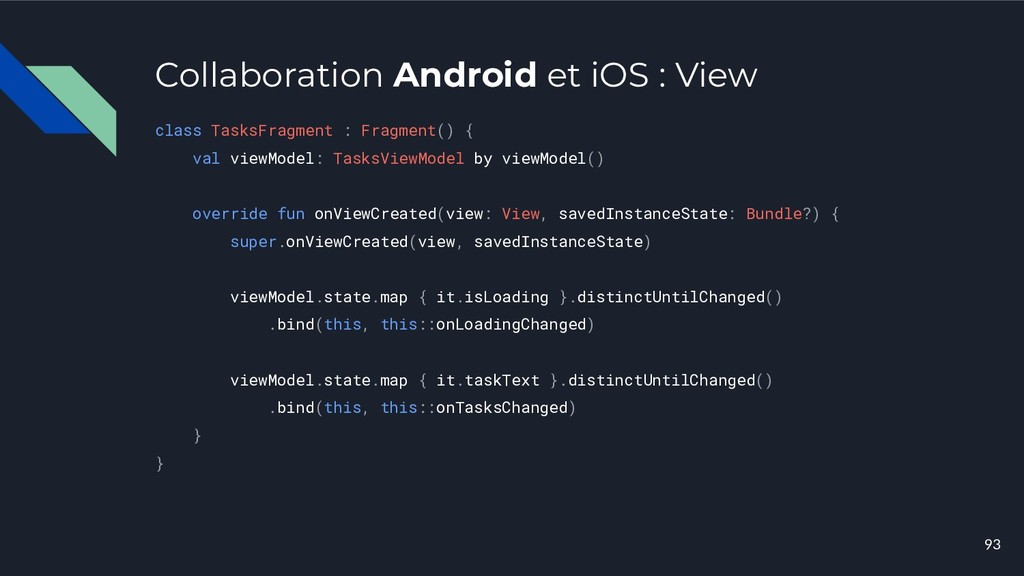Collaboration Android et iOS : View class Tasks...