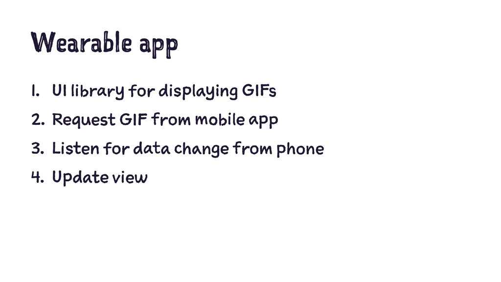 Wearable app 1. UI library for displaying GIFs ...