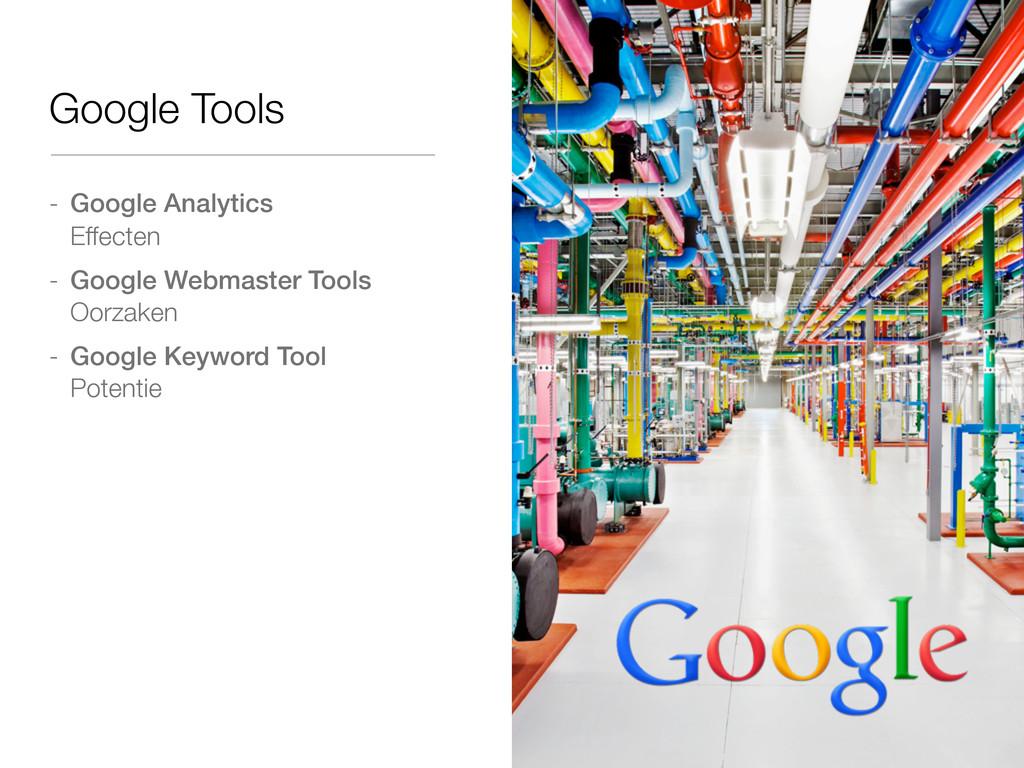- Google Analytics Effecten - Google Webmaster ...