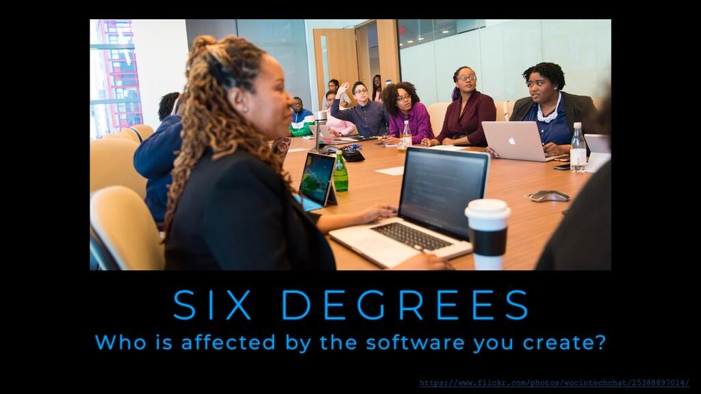 S I X D E G R E E S Who is affected by the soft...