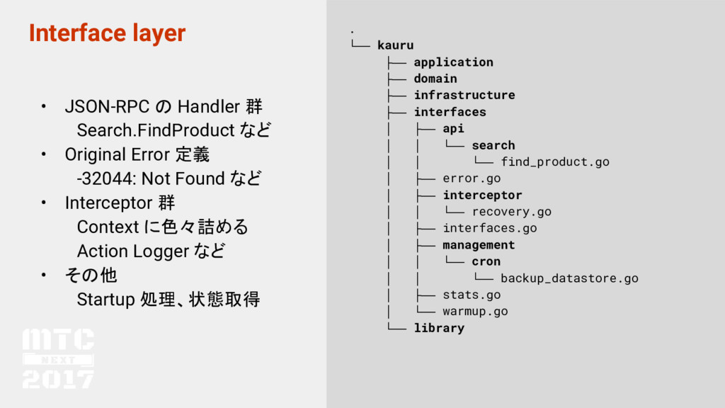 Interface layer • JSON-RPC の Handler 群  Search....